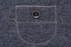 Pocket with button of casual skirt Royalty Free Stock Photos
