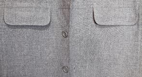 Pocket and button of men's shirt Royalty Free Stock Photography