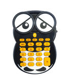 Pocket calculator. The owl calculator isolated on white background Royalty Free Stock Photography