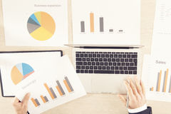 Free Pocket Calculator And Statistics In The Office. Royalty Free Stock Photo - 91004525
