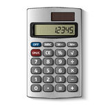Pocket calculator isolated on white Royalty Free Stock Photography