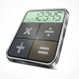 Pocket calculator on white Royalty Free Stock Photos