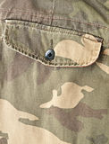Pocket on a camouflage pants Royalty Free Stock Image