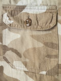 Pocket on a camouflage pants Stock Image