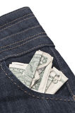 Pocket Cash Royalty Free Stock Image
