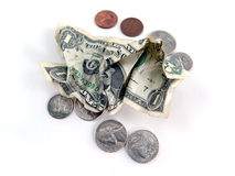 Pocket change Royalty Free Stock Photos