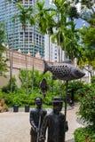 Singapore city centre. Urban pocket park