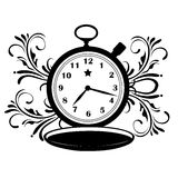 Pocket clock with star Stock Image