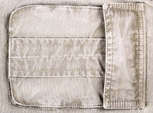 Pocket. Closeup. Clothing texture background with copy space Stock Photo