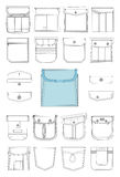 Pocket for clothes Royalty Free Stock Photos