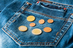 Pocket coins Royalty Free Stock Image