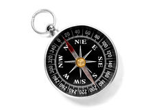 Pocket compass closeup Stock Photos