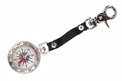 Pocket compass with a metal strap Stock Photos