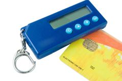 Pocket credit card reader Royalty Free Stock Photography