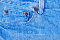 Pocket denim pants Royalty Free Stock Photo