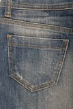 Pocket on denim skirt Stock Photo