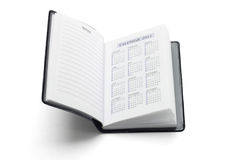 Pocket diary showing 2011 calendar Royalty Free Stock Photos