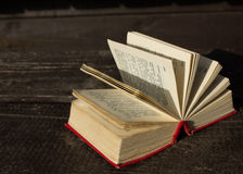 Pocket dictionaries. Language learning in my spare time outdoors Royalty Free Stock Photography