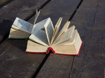 Pocket dictionaries. Language learning in my spare time outdoors Royalty Free Stock Image