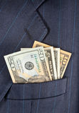 Pocket dollars Stock Photo