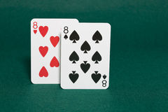 Pocket eights Stock Photography