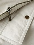Pocket flap and zipper. Pocket flap fragment with metal button and zipper Royalty Free Stock Image