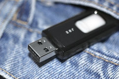 Pocket flash drive Royalty Free Stock Photo