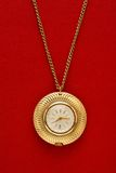 Pocket golden watch with chain Stock Image
