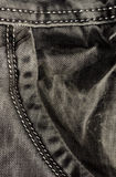 Pocket gray jeans. Detail. Stock Image