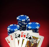Pocket Hand on Red Felt Royalty Free Stock Images