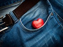Pocket heart Royalty Free Stock Images