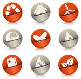 Pocket icons Stock Image