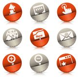Pocket icons Stock Images