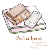 Pocket items Royalty Free Stock Image