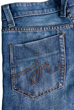 Pocket on jeans Royalty Free Stock Photography