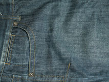 Pocket on jeans. For background Stock Photos