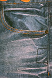 Pocket of jeans close-up. Background texture of jeans fabric Royalty Free Stock Photography