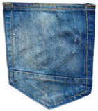 Pocket of jeans pants Royalty Free Stock Photo