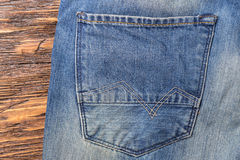 Pocket jeans with stitching Royalty Free Stock Photos