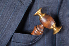 Pocket and judge's hammer Royalty Free Stock Photos