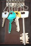 Pocket keys ring. Detail of a pocket keys ring Stock Photo