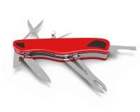 Pocket knife isolated on white background. 3d illustration Royalty Free Stock Photography