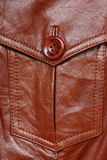 Pocket of leather jacket Stock Photography