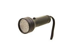 Pocket led flashlight isolated on the white background Royalty Free Stock Image