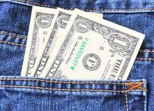 Pocket money Stock Photography