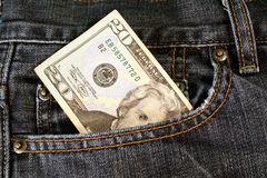 Pocket Money Royalty Free Stock Photo