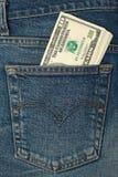 Pocket money stock photos
