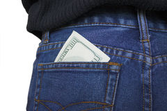 Pocket money. Royalty Free Stock Photos
