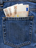 Pocket Money In Blue Jeans Royalty Free Stock Photo