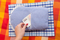 Pocket for money in cloth Stock Photography